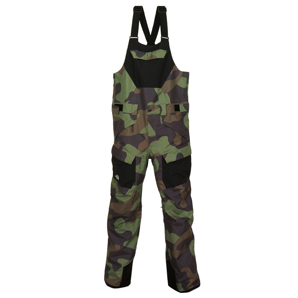 The North Face Freedom Insulated Ski Bib (Men's) - Four Leaf Clover Camo Print