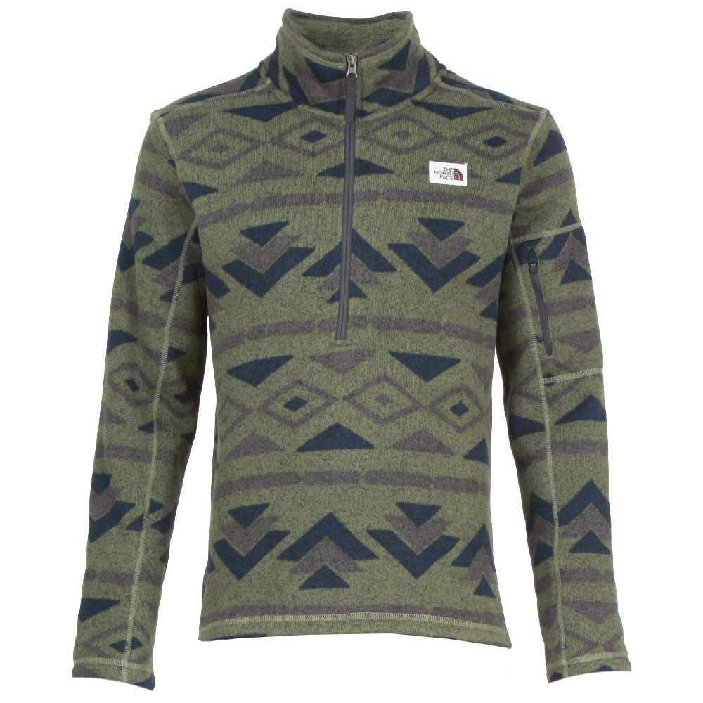 The North Face Gordon Lyons Novelty 1/4-Zip Fleece Mid-Layer (Men's) - Four Leaf Clover California Print