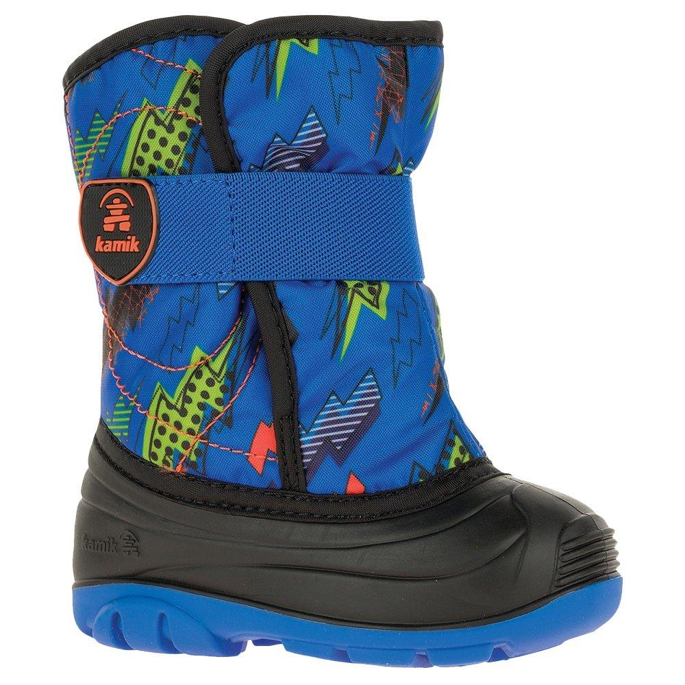 Kamik Snowbug 4 Print Boot (Little Kids') - Blue/Orange
