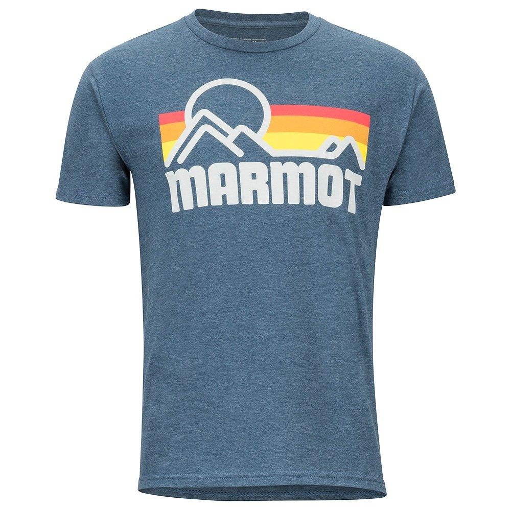 Marmot Coastal Tee Short Sleeve Shirt (Men's) - Navy Heather