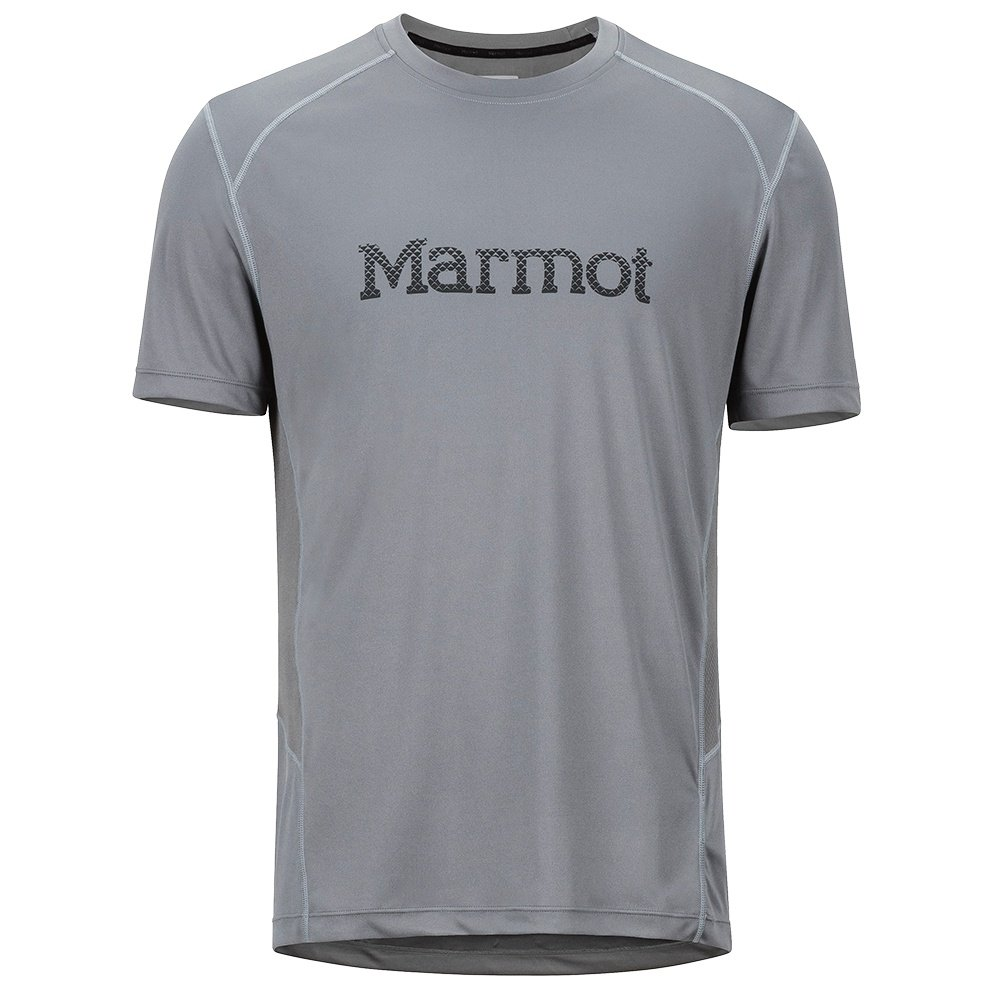 Marmot Windridge with Graphic Short Sleeve Shirt (Men's) - Cinder