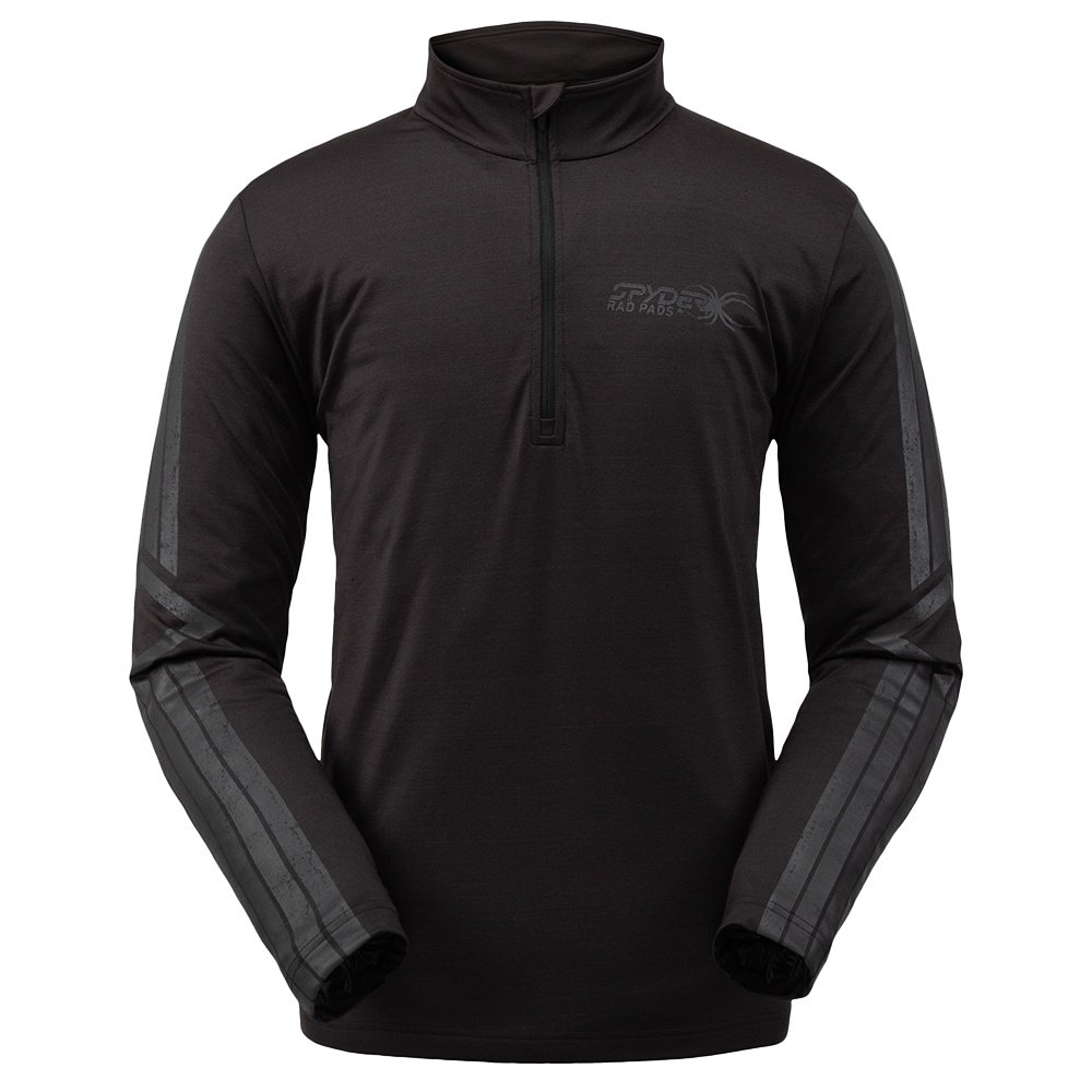 Spyder Paramount 1/2 Zip Turtleneck Mid-Layer (Men's) - Black Ebony