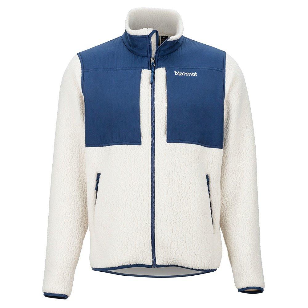 Marmot Wiley Fleece Jacket (Men's) - Gray Moon/Arctic Navy