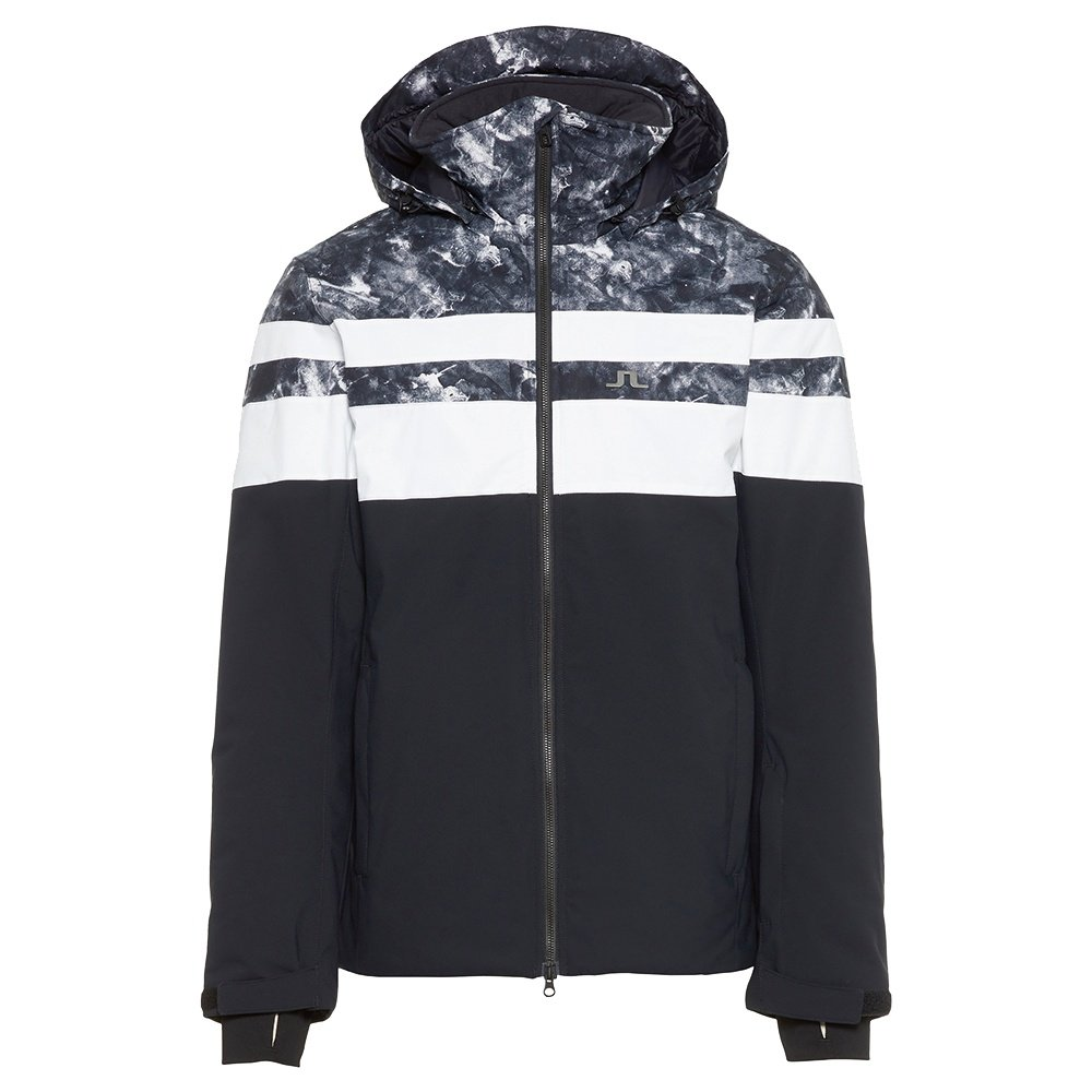 J. Lindeberg Franklin Print Insulated Ski Jacket (Men's) - Glacier Grey/Black