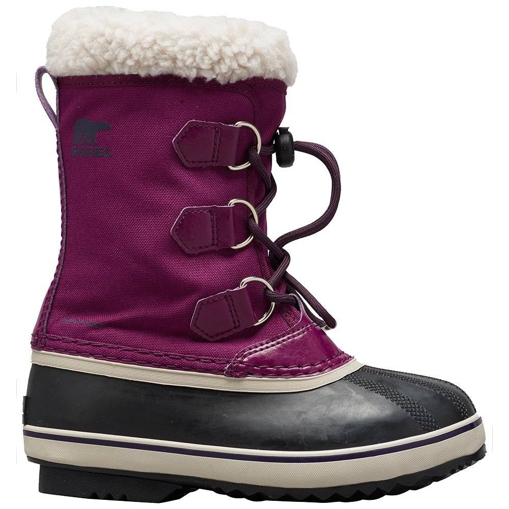 Sorel Yoot Pac Nylon Boot (Boys') - Wild Iris/Dark Plum