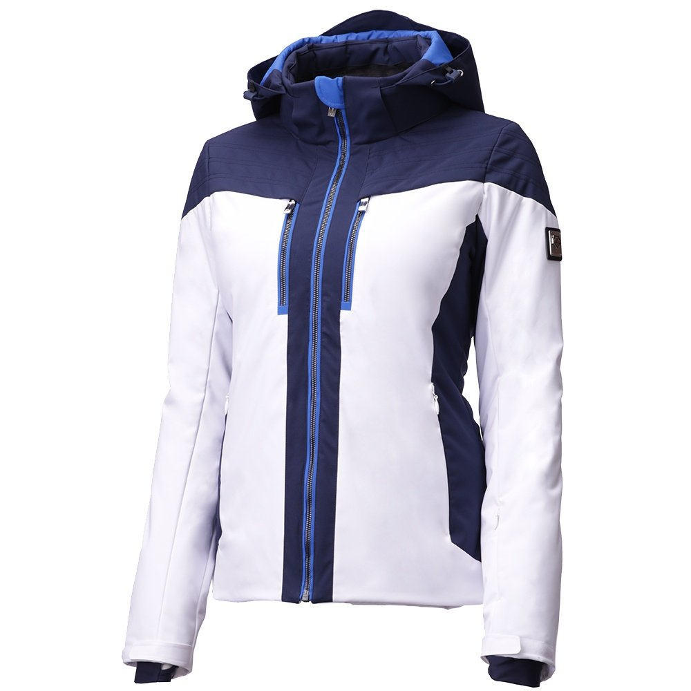 Descente Ivy Down Ski Jacket (Women's) - Super White/Dark Night/Victory Blue