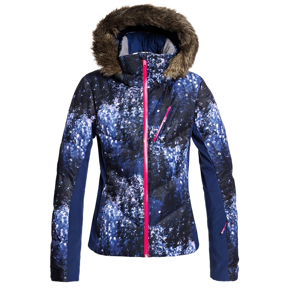 Roxy Snowstorm Plus Insulated Snowboard Jacket (Women's) - Medieval Blue Sparkles