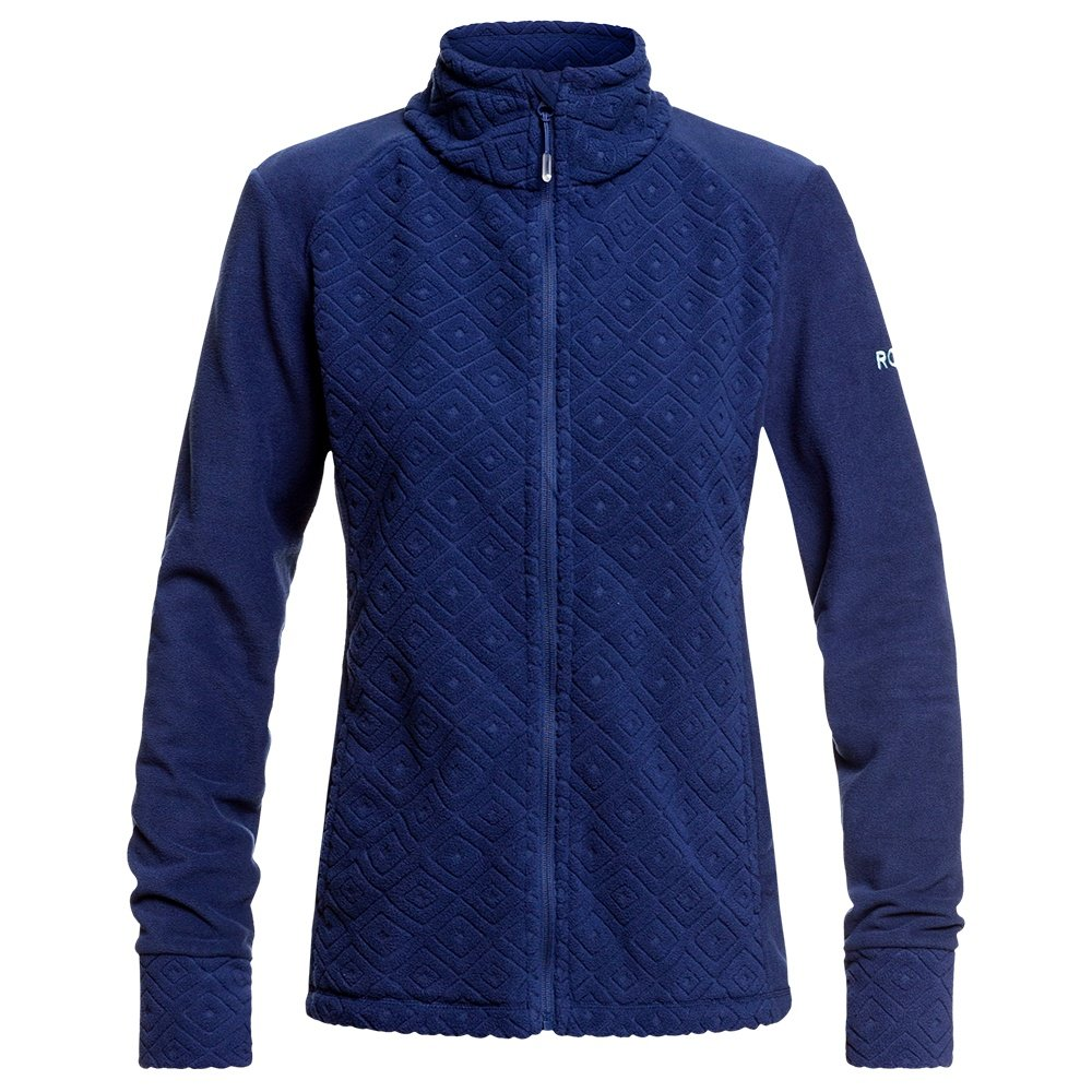 Roxy Surface Zip Through Sweater (Women's) - Medieval Blue