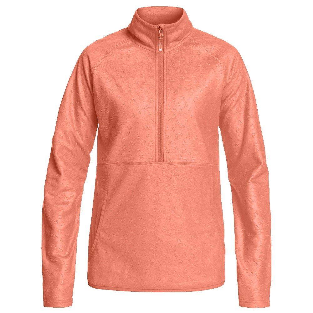 Roxy Cascade 1/2-Zip Fleece Mid-Layer (Women's) - Living Coral Risingpeak