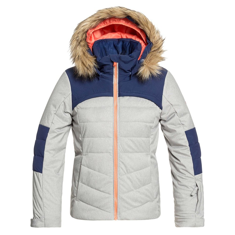 Roxy Bamba Insulated Snowboard Jacket (Girls') - Heather Grey