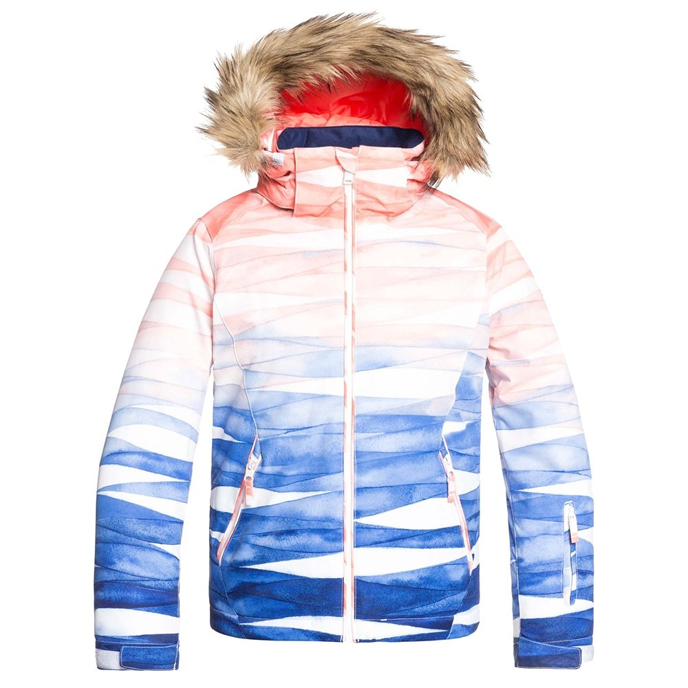 Roxy American Pie SE Insulated Snowboard Jacket (Girls') - Mid Denim Yumi Yamada Print