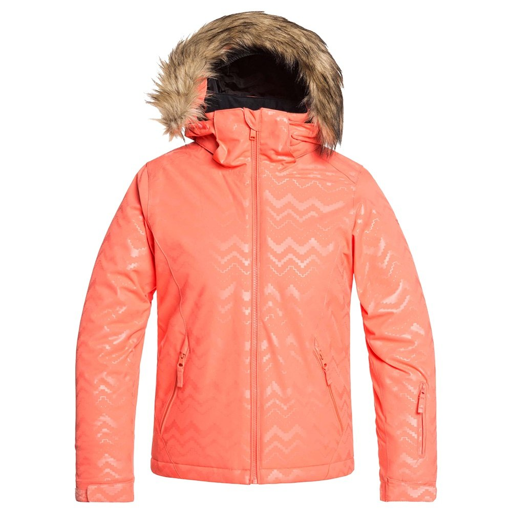 Roxy American Pie Solid Insulated Snowboard Jacket (Girls') - Living Coral Aztec