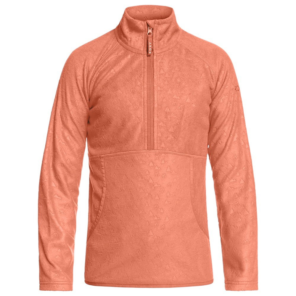Roxy Cascade Pullover Fleece Mid-Layer (Girls') - Living Coral Risingpeak