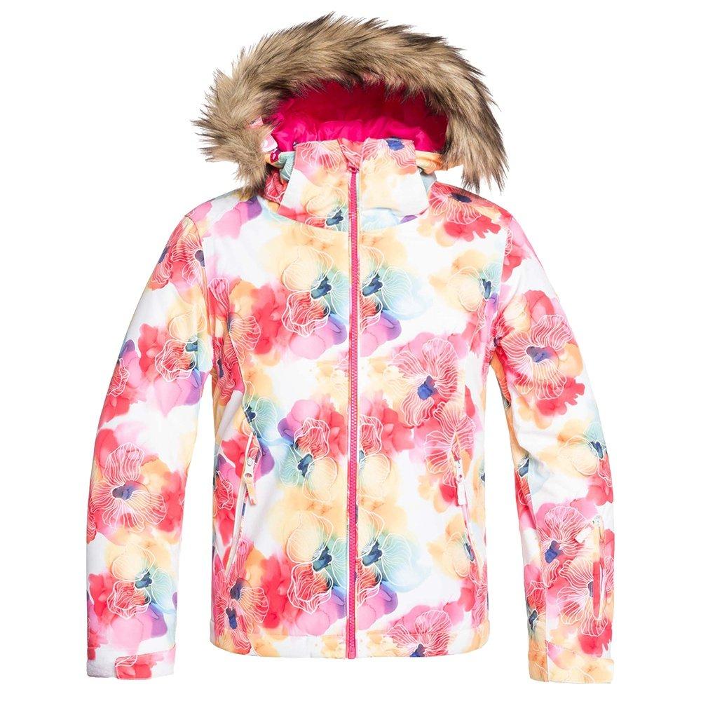 Roxy American Pie Insulated Snowboard Jacket (Girls') - Bright White Sunshine Flowers