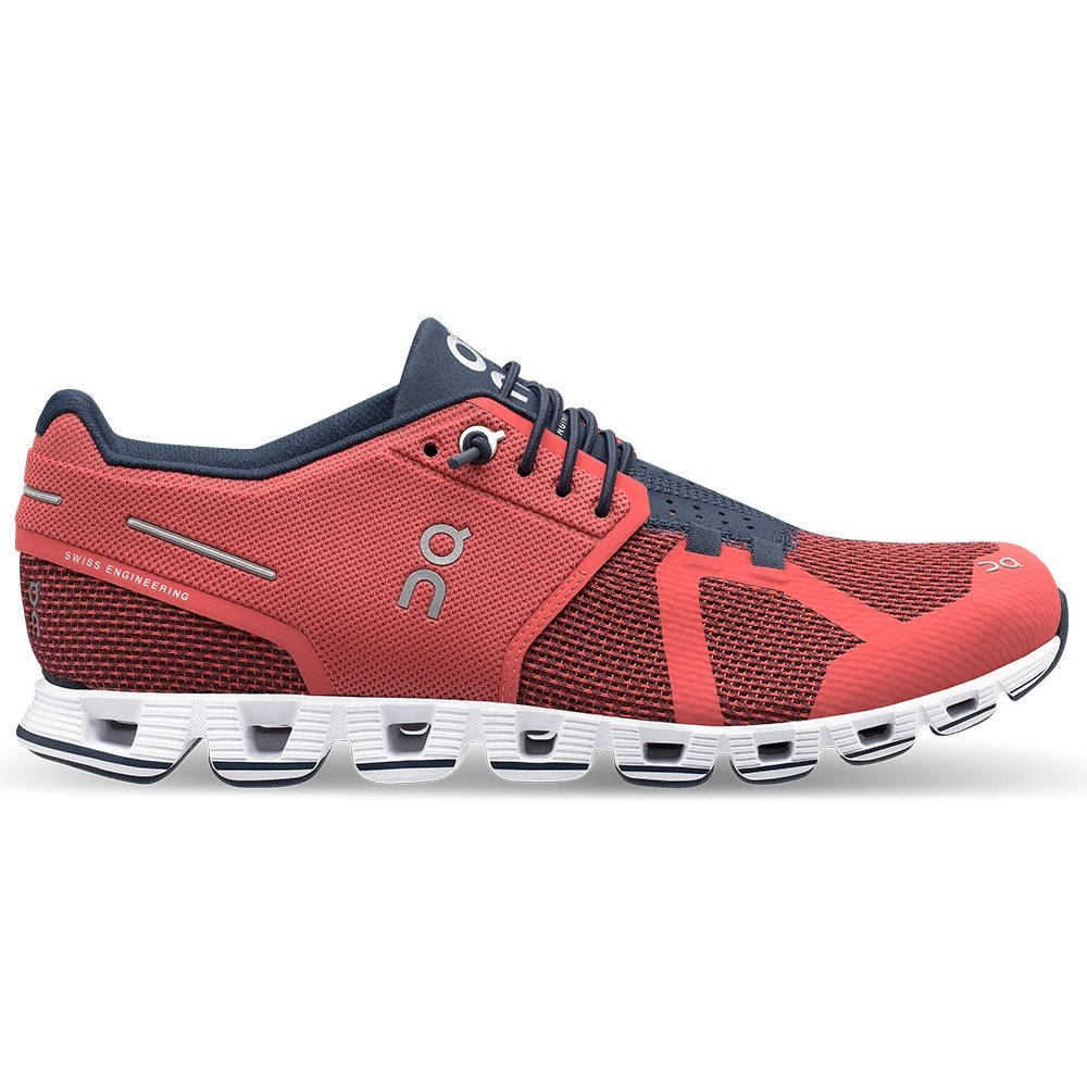 On Cloud Running Shoes (Women's) - Coral/Pacific