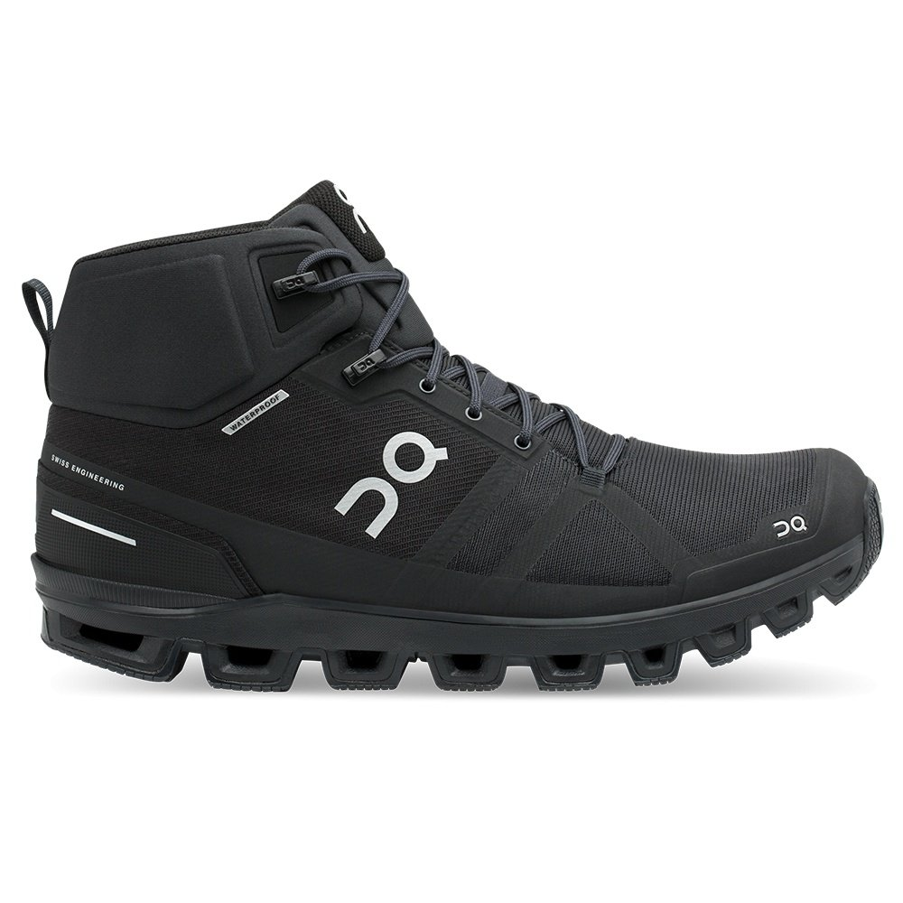On Cloudrock Waterproof Trail Running Shoe (Men's) - All Black