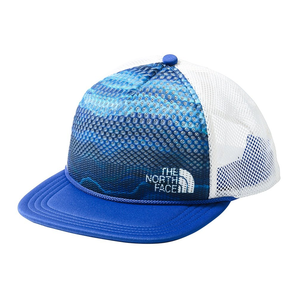The North Face Trail Trucker Hat (Adults') - Aztec Blue Geode Print