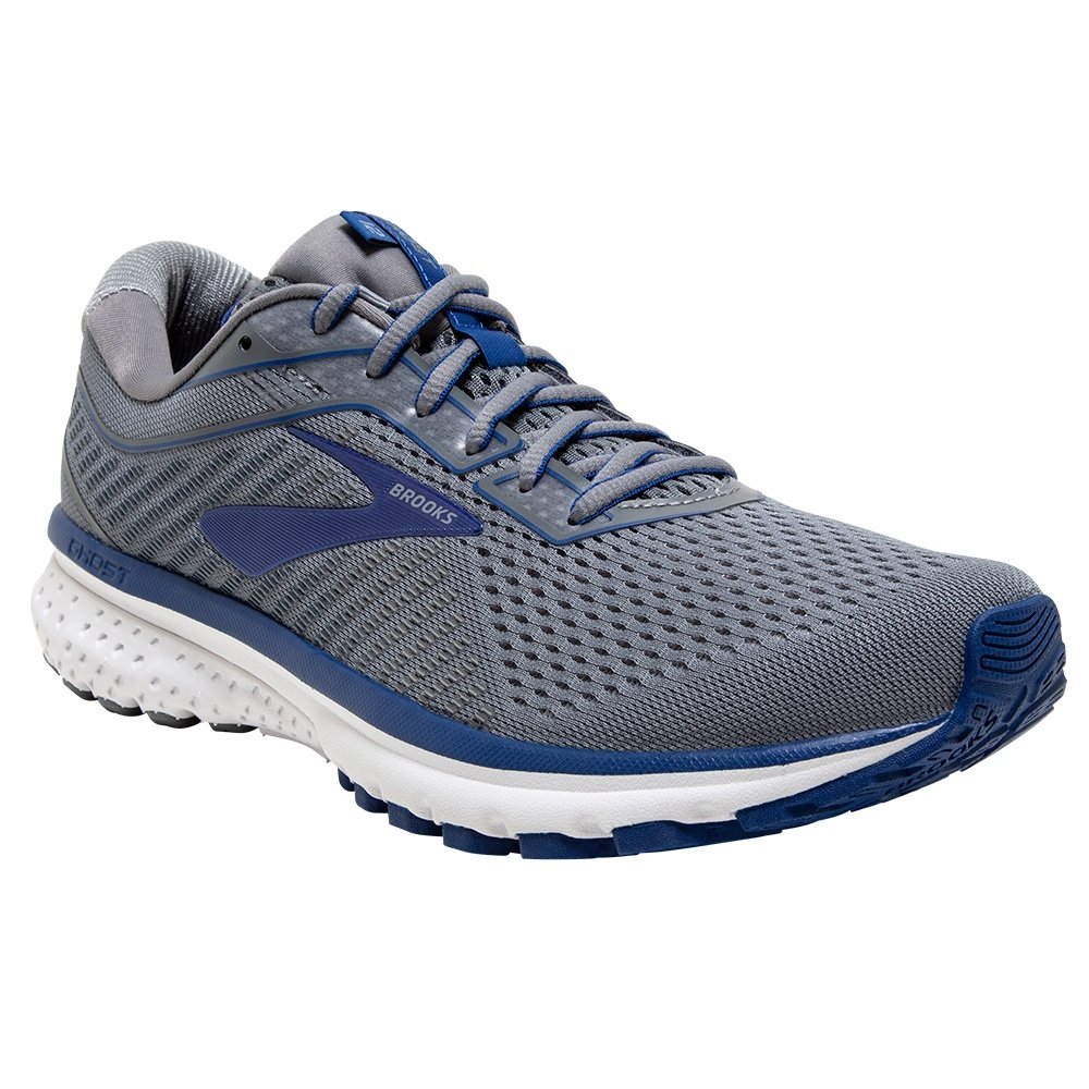 Brooks Ghost 12 Running Shoe (Men's) - Grey/Alloy/Blue