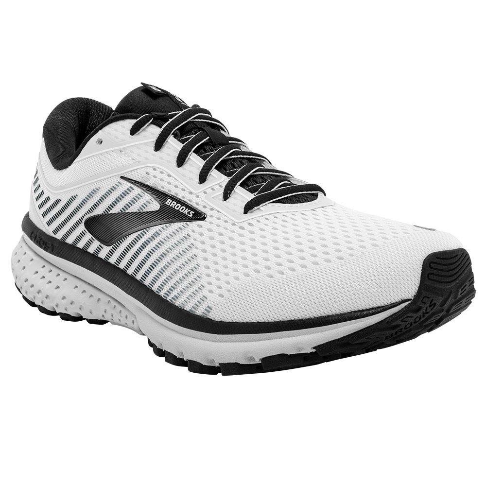 Brooks Ghost 12 Running Shoe (Men's) - White/Grey/Black