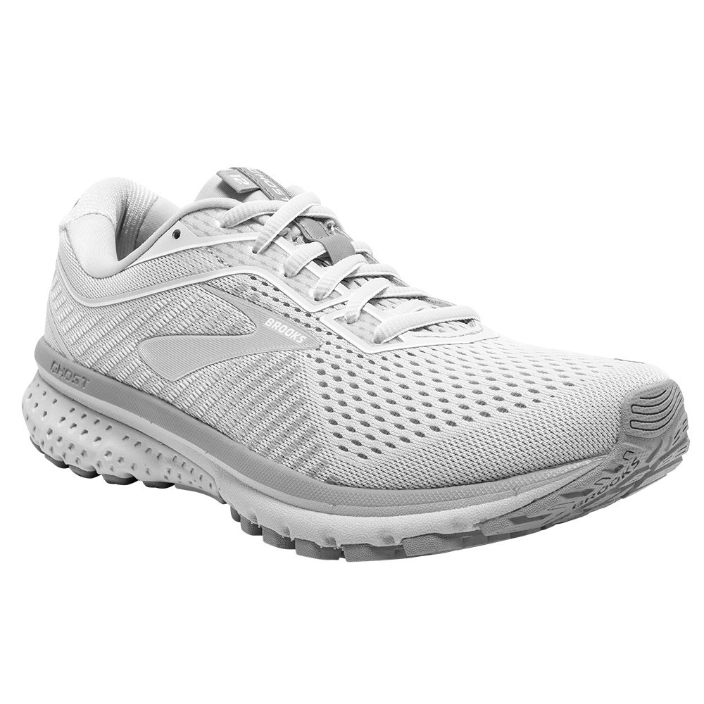 Brooks Ghost 12 Running Shoe (Women's) - Oyster/Alloy/White