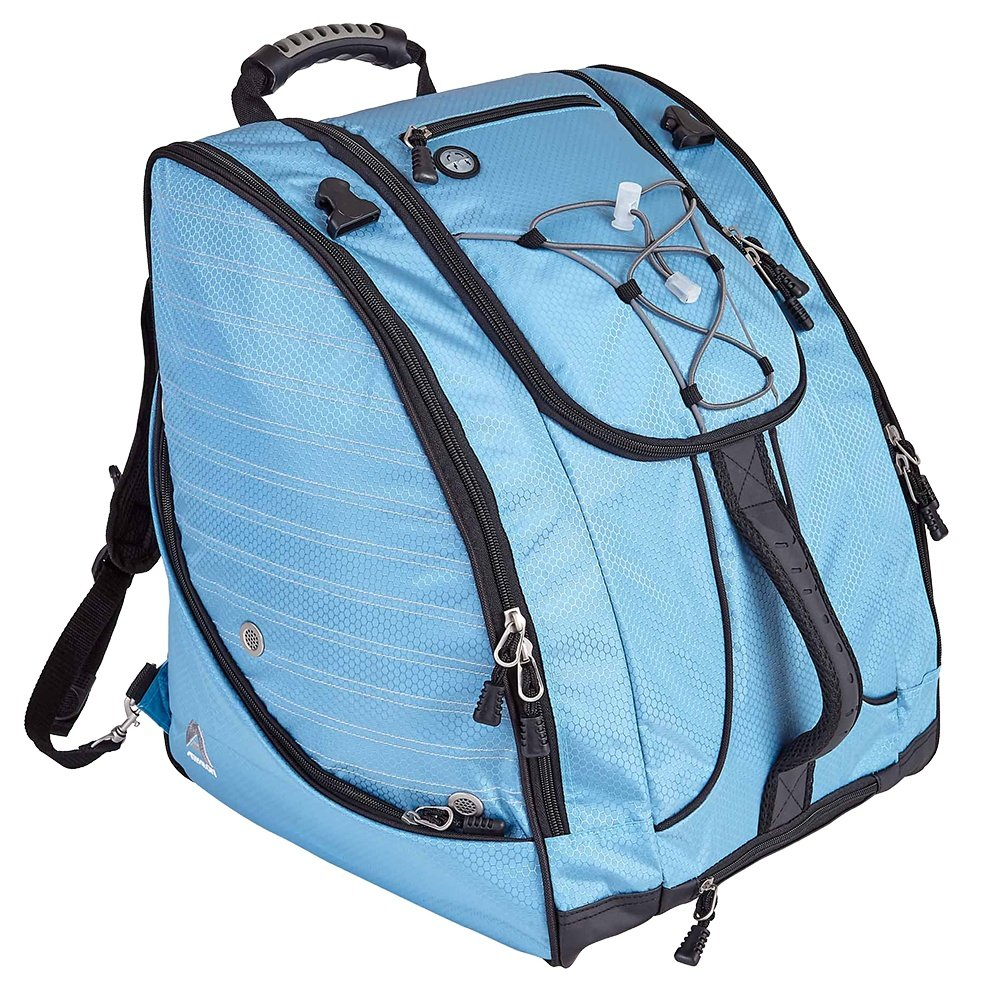 Athalon Deluxe Everything Boot Bag - Sky Blue/Black