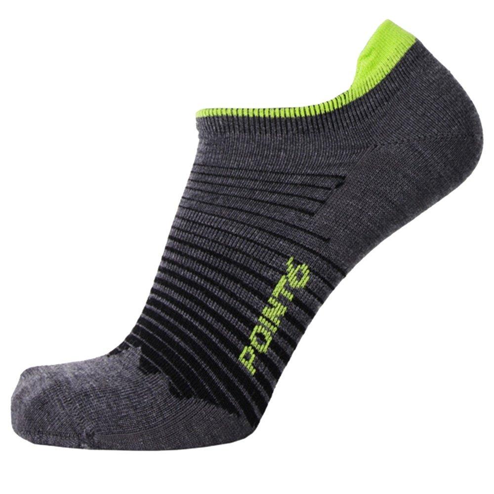 Point6 Peak No Show Tab Sock (Kids') - Gray