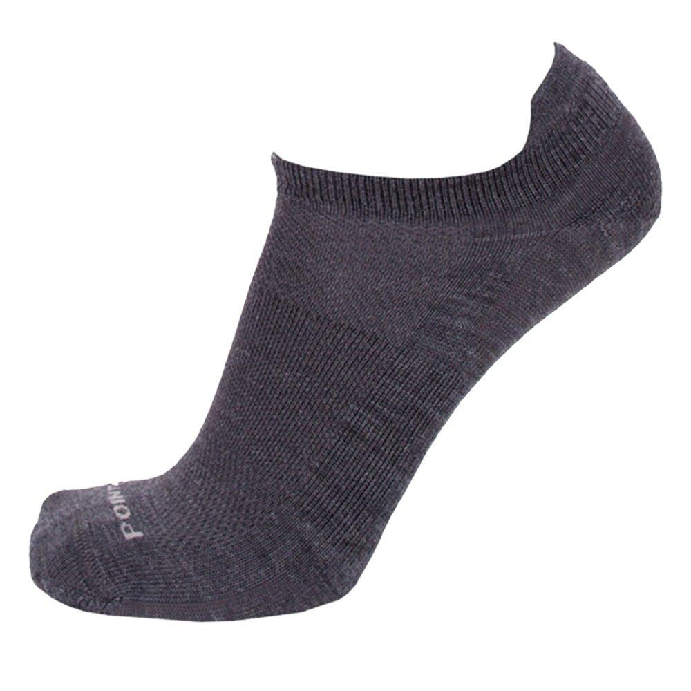 Point6 Pop No Show Tab Sock (Kids') - Gray