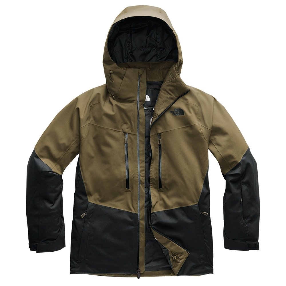 The North Face Chakal Insulated Ski Jacket (Men's) - Military Olive/TNF Black