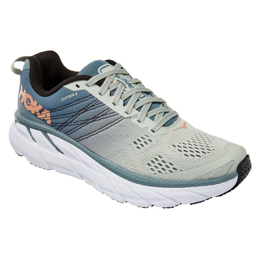 Hoka One One Clifton 6 Wide Running Shoe (Women's) - Lead/Seafoam