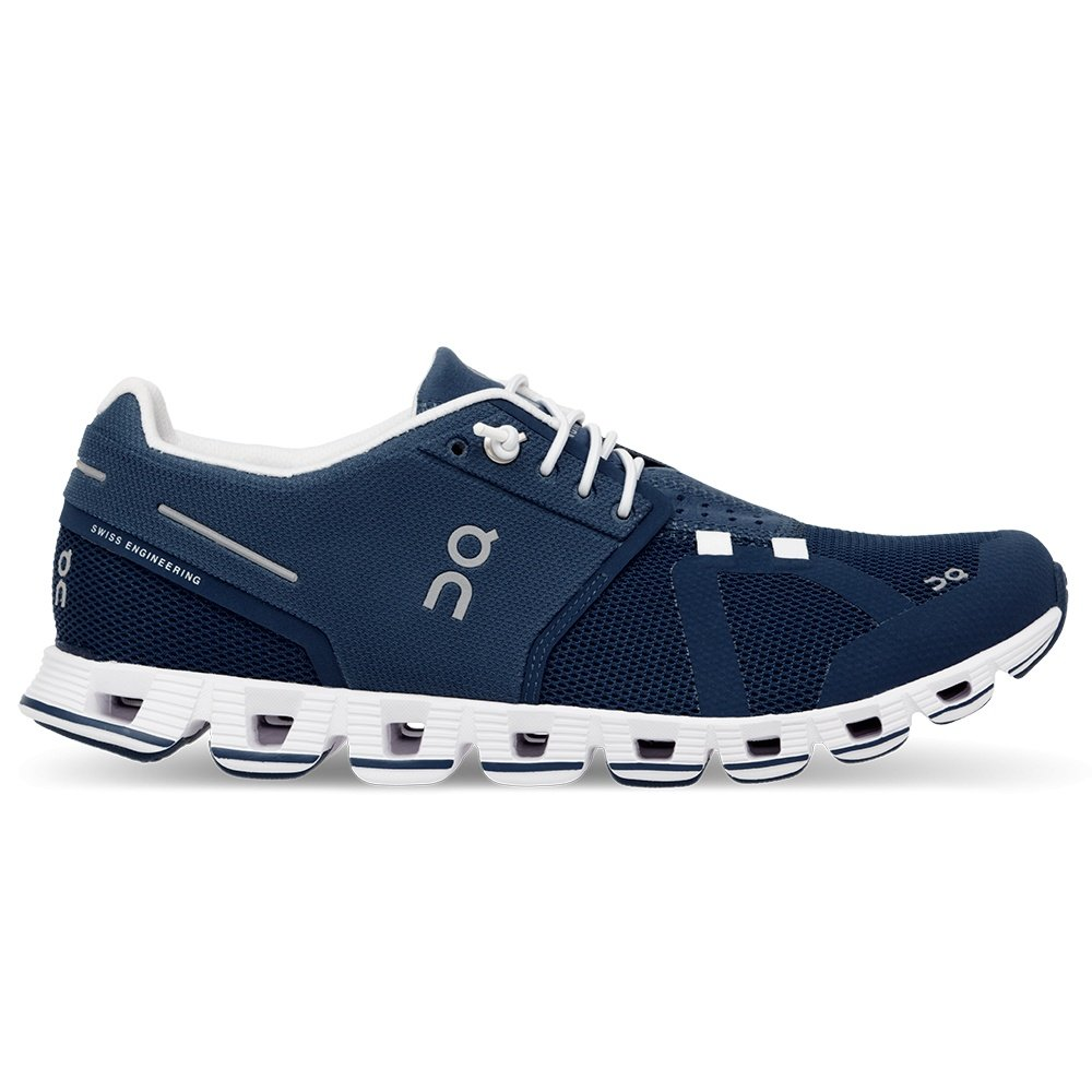 On Cloud Running Shoes (Women's) - Denim/White
