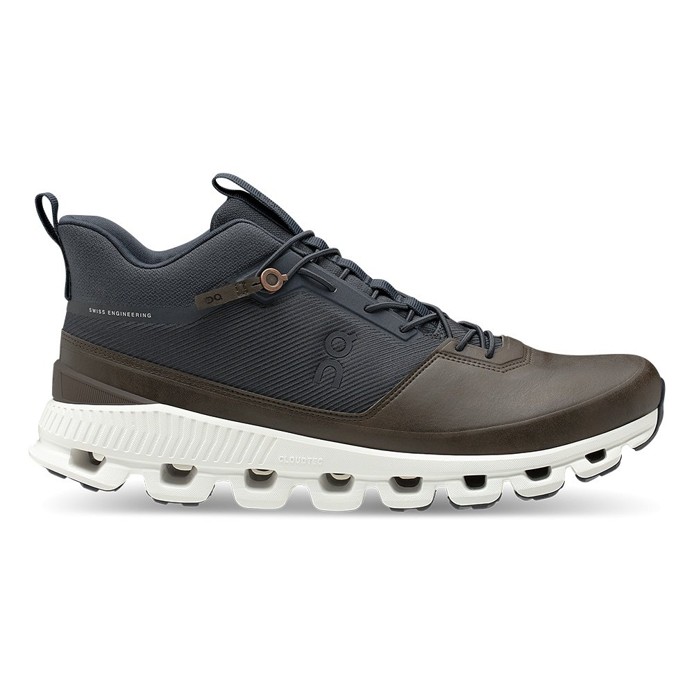 On Cloud Hi Running Shoe (Men's) - Ink/Brown