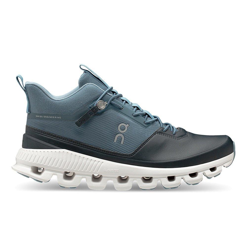 On Cloud Hi Running Shoe (Women's) - Dust/Navy