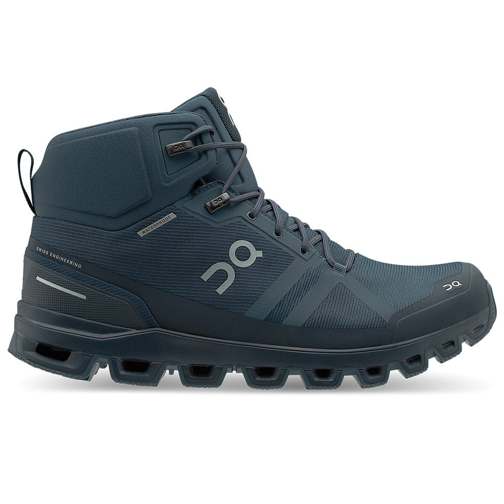 On Cloudrock Waterproof Trail Running Shoe (Men's) - Navy/Midnight
