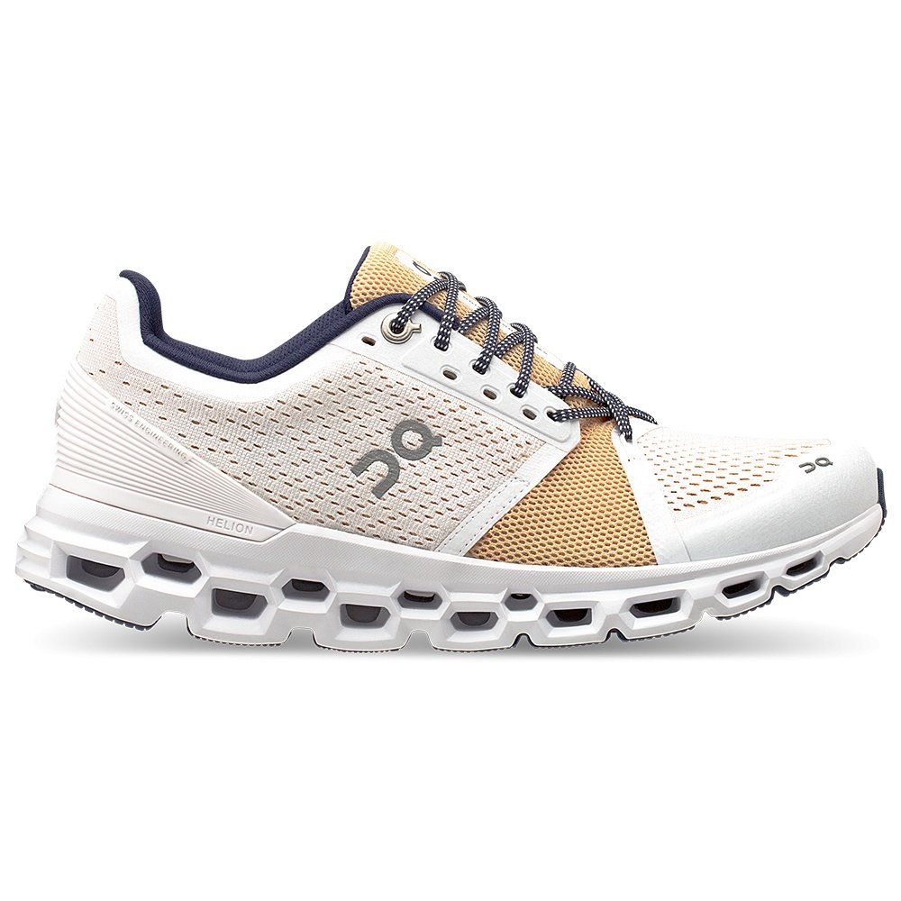 On Cloudstratus Running Shoe (Women's) - White/Almond