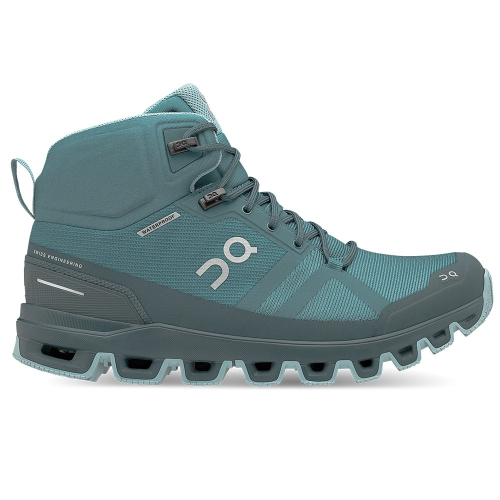 On Cloudrock Waterproof Trail Running Shoe (Women's) - Storm/Wash
