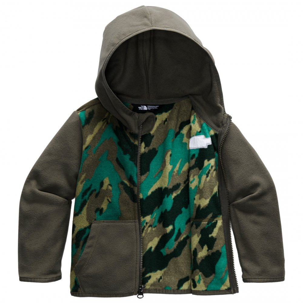 The North Face Glacier Full-Zip Hoodie (Little Kids') - Evergreen Mountain Camo Print