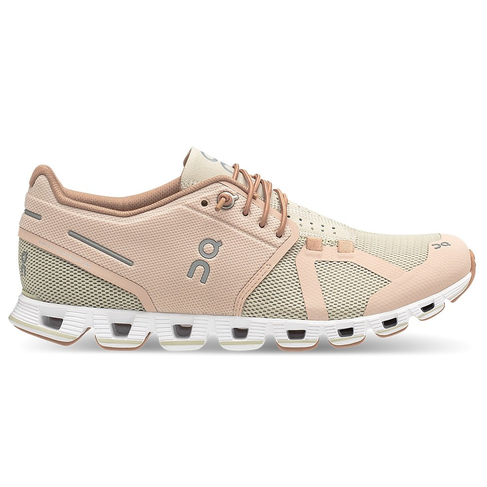 On Cloud Running Shoe (Women's) - Rose/Sand
