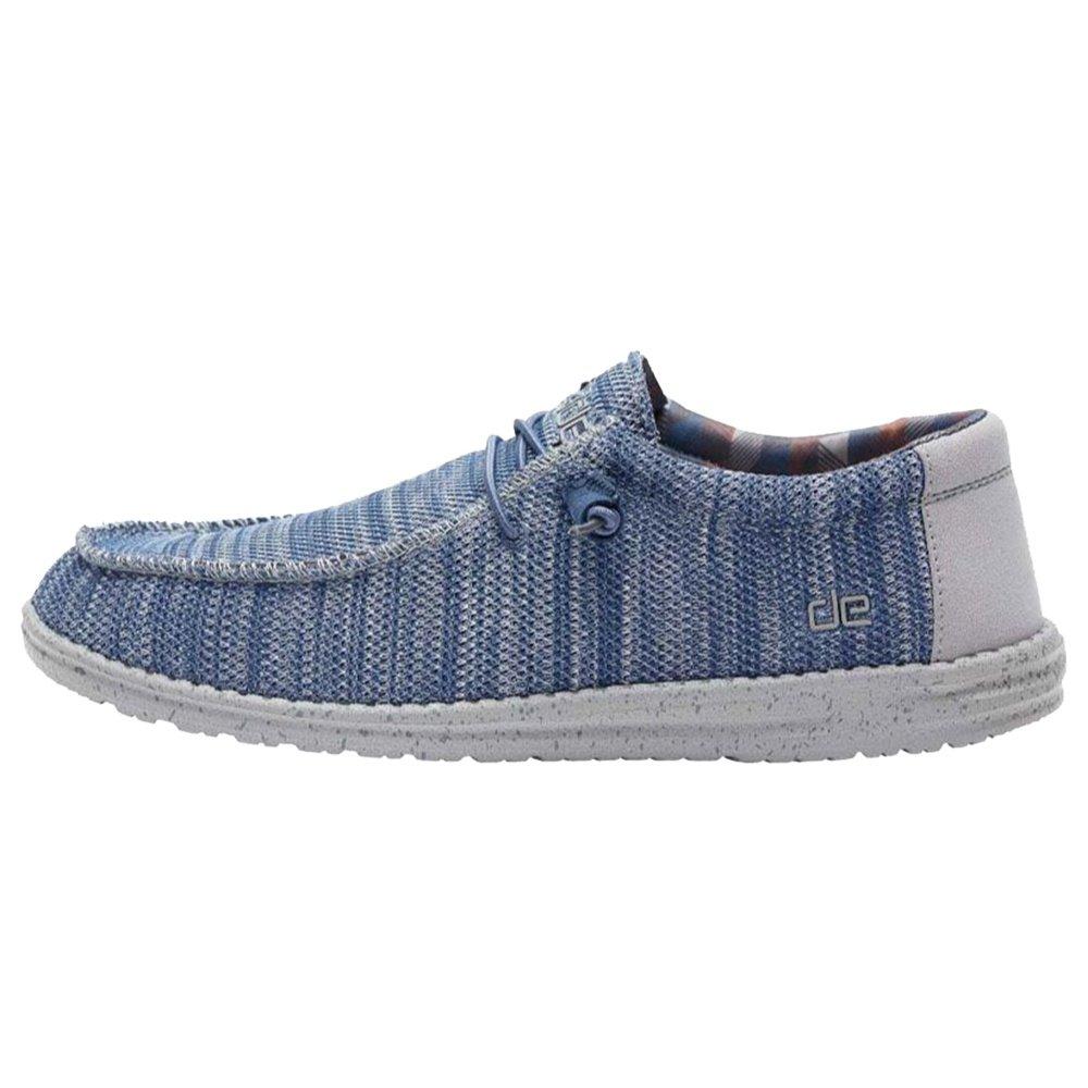 Hey Dude Wally Sox Shoe (Men's) - Steel/Blue