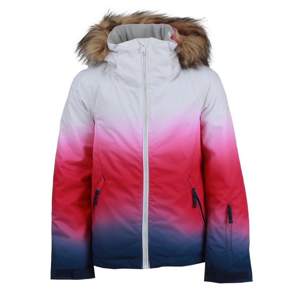 Roxy American Pie SE Insulated Snowboard Jacket (Girls') - Medieval Blue Sparkles