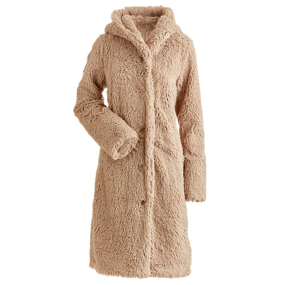 Nils Britta Long Fuzzy Coat (Women's) - Champagne