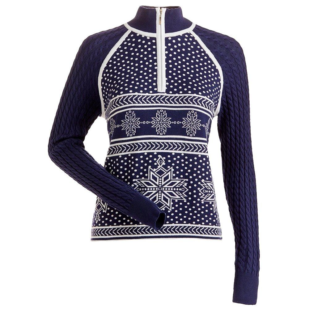 Nils Ingrid 1/4-Zip Sweater (Women's) - Navy/White