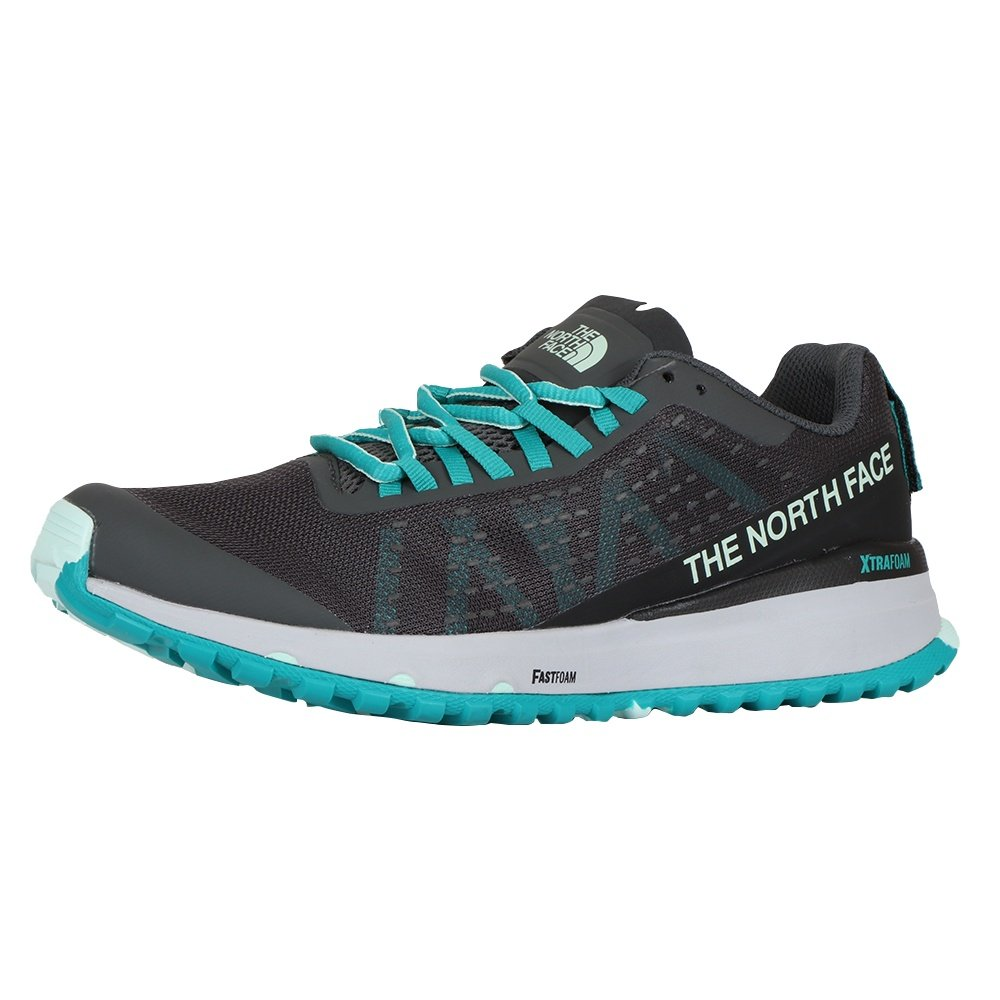The North Face Ultra Swift Trail Running Shoe (Women's) - Dark Shadow Grey/Jaiden Green