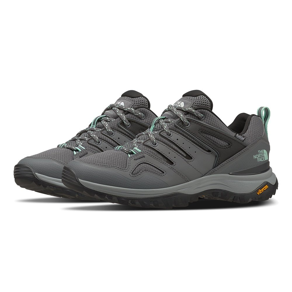 The North Face Hedgehog Fastpack II Waterproof Hiking Shoe (Women's) - Zinc Grey/Moonlight Jade