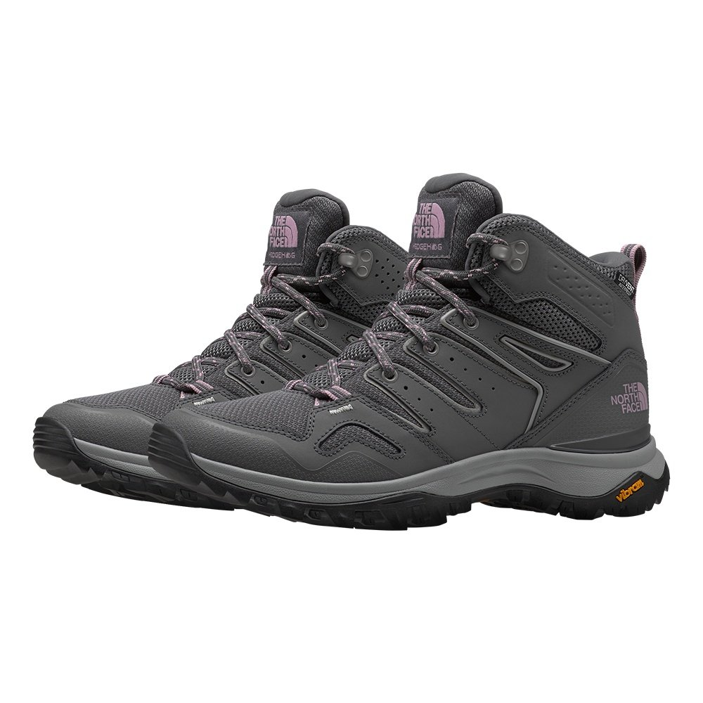 The North Face Hedgehog Fastpack II Mid Waterproof Hiking Boot (Women's) - Zinc Grey/Mauve Shadows
