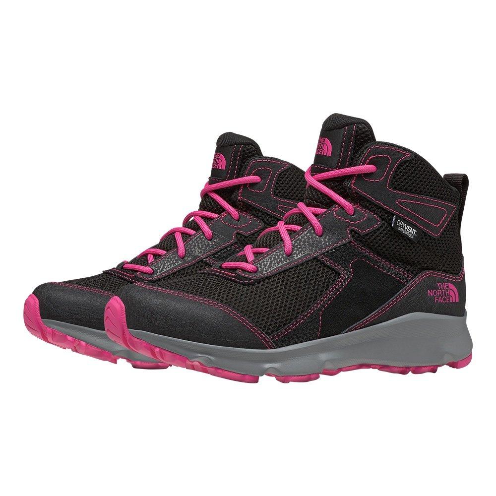 The North Face Hedgehog Hiker II Mid Waterproof Hiking Boot (Kids') - TNF Black/Mr. Pink