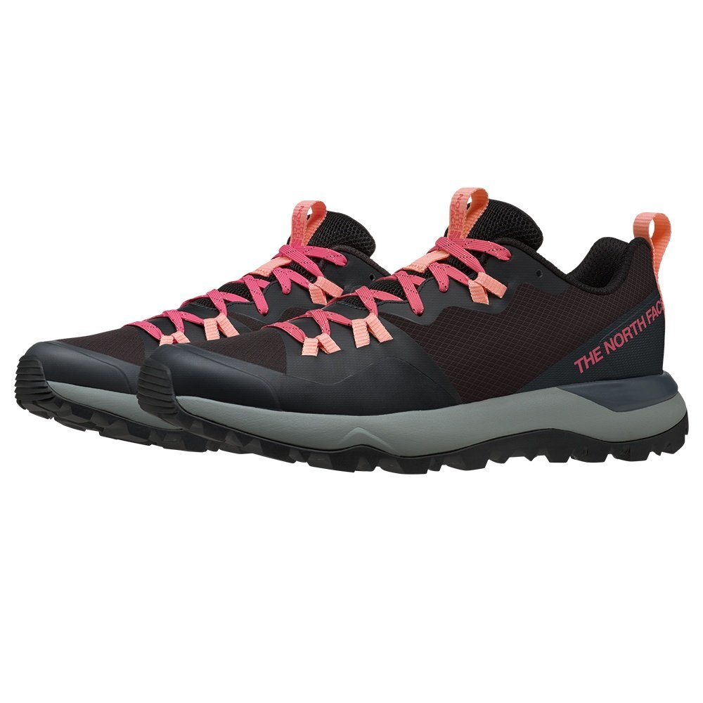The North Face Activist Lite Hiking Shoe (Women's) - TNF Black/Calyso Coral