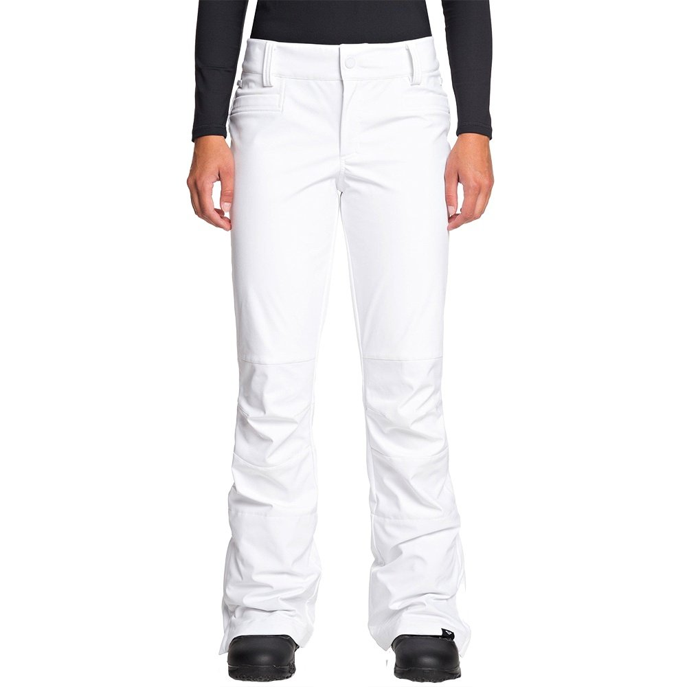 Roxy Creek Stretch Softshell Snowboard Pant (Women's) - Bright White