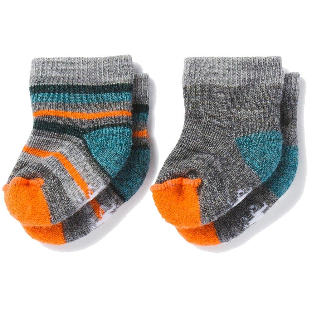 Smart Wool Bootie Batch 2-Pack (Little Kids') - Medium Gray Heather/Mediterranean