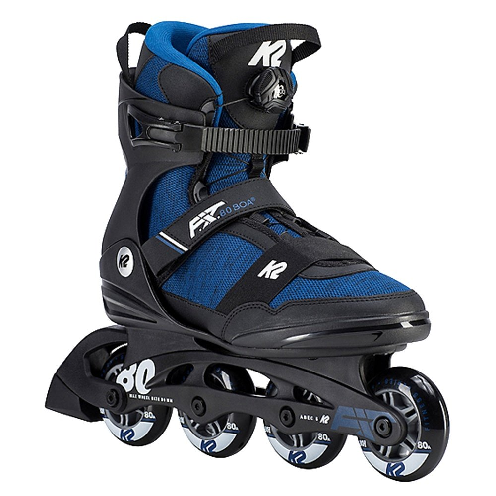 K2 F.I.T. 80 Boa Inline Skate (Men's) - Black/Blue