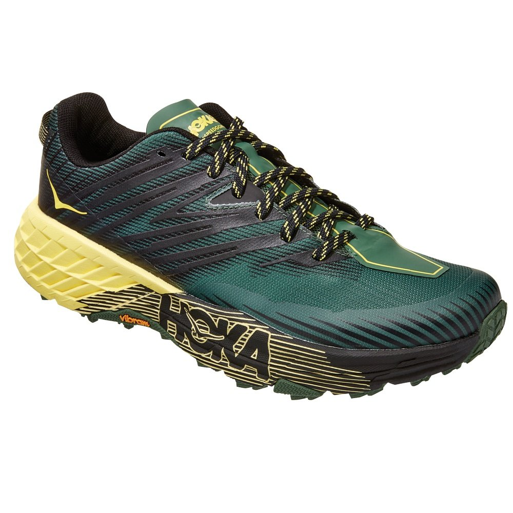 Hoka One One Speedgoat 4 Trail Running Shoe (Men's) - Myrtle/Limelight